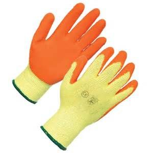 Orange Latex Gloves